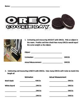 OREO Day Non Standard Measurement Activities