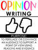 OREO Opinion Writing Resources