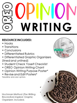 OREO Opinion Writing Resources