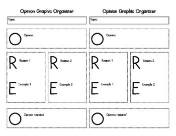 OREO Opinion Graphic Organizer
