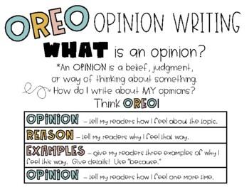 OREO Opinion Writing FREEBIE