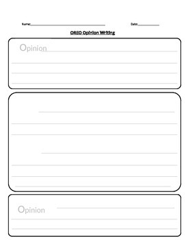 OREO Opinion Writing Template