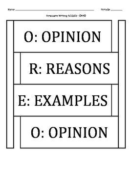 OREO Persuasion Writing Technique