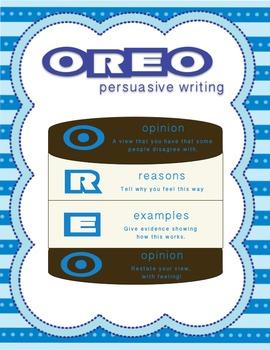 OREO Persuasive Writing- Graphic Organizer/Poster/Persuasive Words