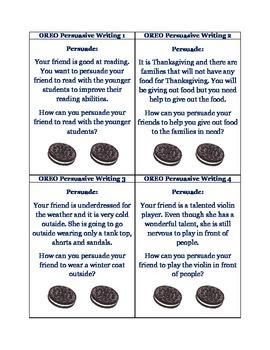 OREO Persuasive Writing: 52 Task Cards