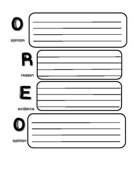 OREO Persuasive Writing Graphic Organizer