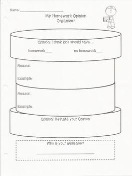 OREO Persuasive Writing Organizers
