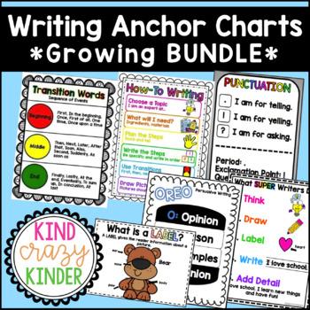 Writing Anchor Charts *GROWING BUNDLE*