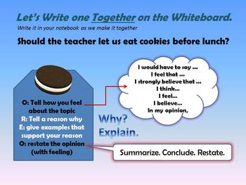 OREO Writing - A recipe for solid opinions!