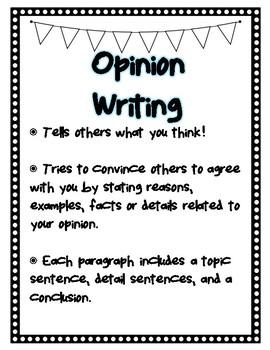 OREO Writing Mini Posters - FREEBIE