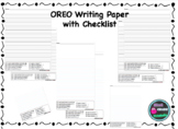 OREO Writing Paper with Checklist