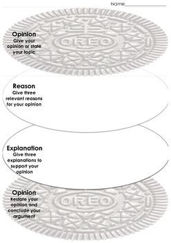OREO graphic organiser - persuasive writing
