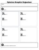 OREO writing graphic organizer