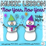 """Music Lesson and Orff Game Song: """"New Year, New Year""""  Mp3 Tracks K-6"""
