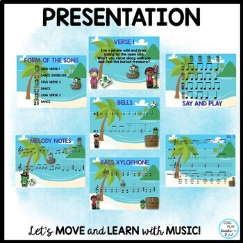"Pirate Song and Dance: ""I'm a Pirate"" with Orff Sheet Music and Mp3 Tracks"