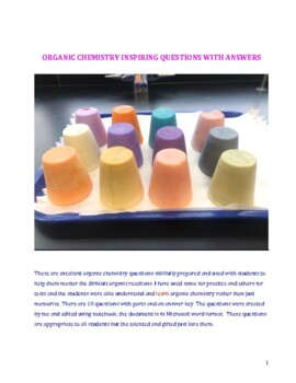 ORGANIC CHEMISTRY INSPIRING QUESTIONS WITH ANSWERS