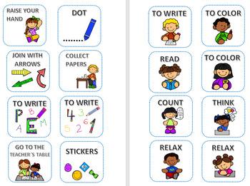 ORGANIZE THE WORK IN CLASS (ENGLISH)
