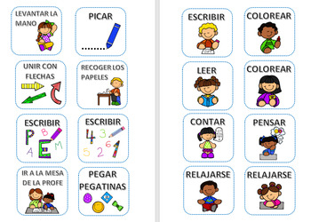 ORGANIZE THE WORK IN CLASS (SPANISH)