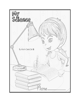 """ORGANIZE YOUR SCIENCE FOLDERS: Colorable; Printable: """"My Science"""""""