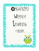 ORGANIZED WEEKLY LEARNING (HOMEWORK) FOLDER COVERS