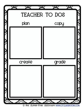 ORGANIZING POST-ITS {Blackline Design} classroom management tool