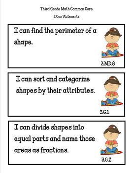 COMMON CORE ORGANIZER {3rd Grade MATH Teachers Toolkit}