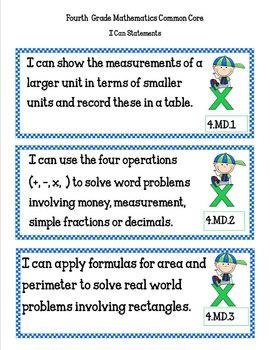 COMMON CORE ORGANIZER {4th Grade MATH Teachers Toolkit}