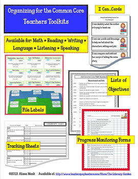 COMMON CORE ORGANIZER {4th Grade READING Teachers Toolkit}