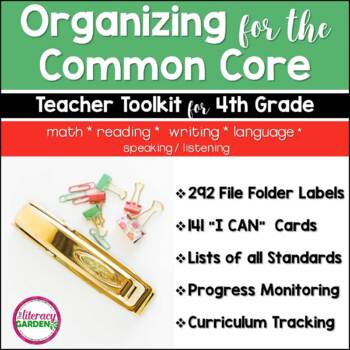 COMMON CORE ORGANIZER {4th Grade Teachers Toolkit} BUNDLE