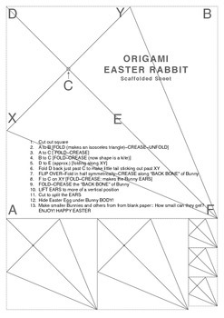 ORIGAMI EASTER RABBITS