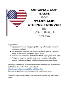 ORIGINAL CUP GAME for Stars and Stripes Forever