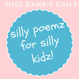 ORIGINAL SILLY POEMS! Poem of the Week Pack of 12 original