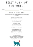 ORIGINAL SILLY Poem of the Week original poem + worksheet