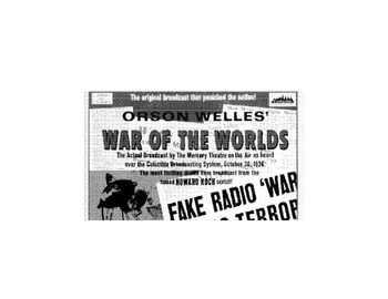 History WAR OF THE WORLDS Radio Broadcast Inform Text +6 Multiple Choice Reading