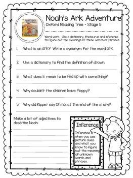 Oxford Reading Tree Stage 5 - Noah's Ark Adventure Close Reading Activity