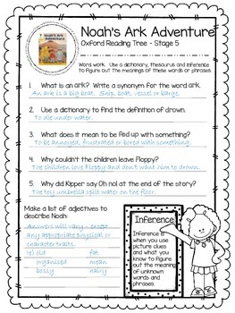 Oxford Reading Tree Stage 5 - Noah's Ark Adventure Close Reading Activity