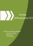 ORTHOGRAPHE CE1  2TH GRADE