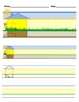 ORTON-GILLINGHAM handwriting houses (color coded lines & visual picture cues)