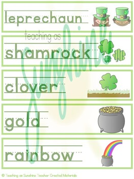 OSMO & Vocabulary Easter and St. Patrick's Day Words