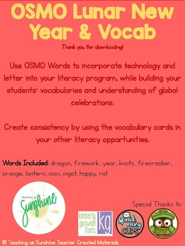OSMO & Vocabulary Lunar New Year