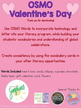 OSMO & Vocabulary Valentine's Day Words