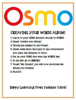 OSMO Words - Tricky Foods and Kitchen Words