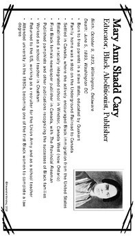 OSSLT & OLC - Famous Canadian Women - Profile Cards
