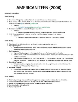 OSSLT - Opinion Writing - Paragraph Structure