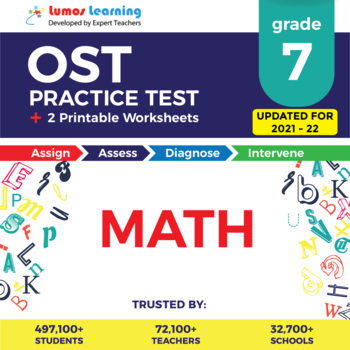 Ohio State Test Prep 7th Grade Math - OST Practice Test, Worksheets