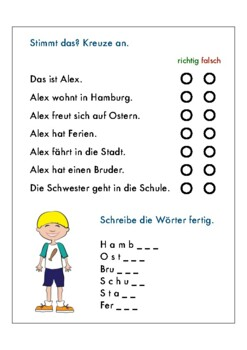 OSTERN 10 page German easter worksheets children: colors,family ...