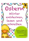 OSTERN 10 page German easter worksheets children: colors,f