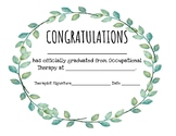 OT Graduation Certificate