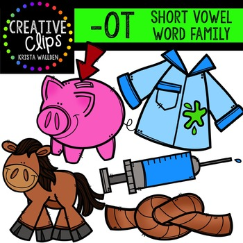 OT Short O Word Family {Creative Clips Digital Clipart}