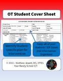 OT Student Cover Sheet - Intervention Plan